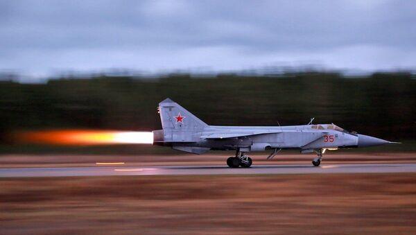 Loty szkoleniowe Su-35 i MiG-31 w obwodzie twerskim - Sputnik Polska