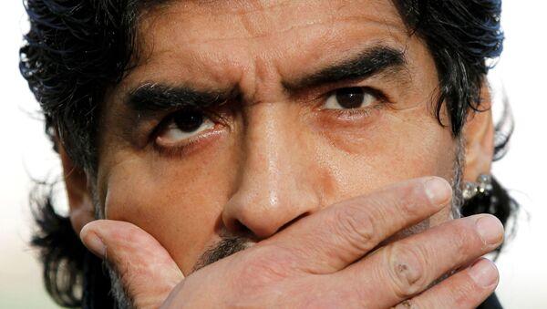 Diego Maradona w 2010 roku - Sputnik Polska