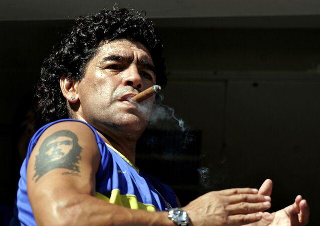 Diego Maradona w 2006 roku