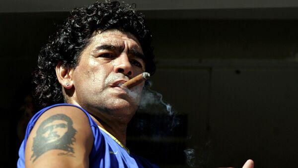 Diego Maradona w 2006 roku - Sputnik Polska