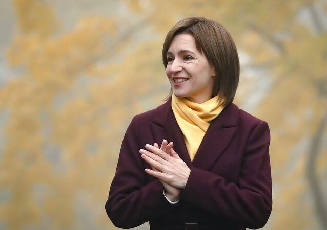 Prezydent-elekt Mołdawii Maia Sandu.