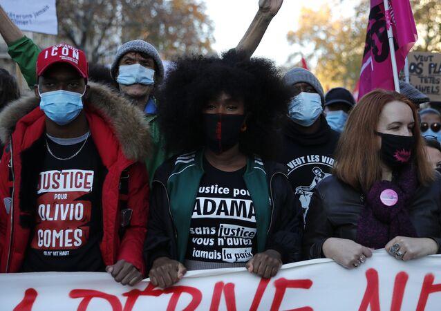 Akcja protestu w Paryżu