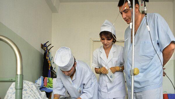 Dzień roboczy w jednym ze szpitali w Stepanakercie - Sputnik Polska
