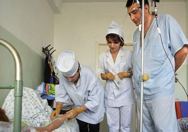 Dzień roboczy w jednym ze szpitali w Stepanakercie