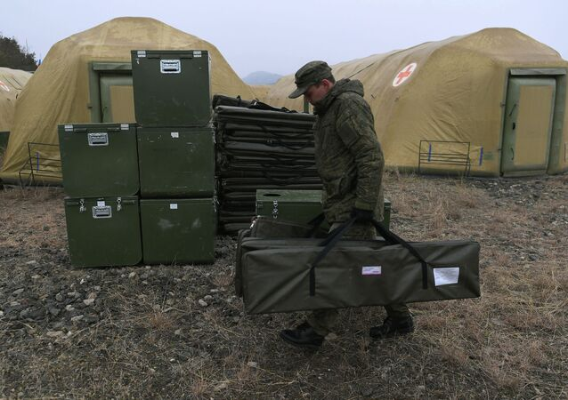 Rosyjskie jednostki specjalnego przeznaczenia medycznego (MOSN) rozmieściły szpital wojskowy w Stepanakercie.