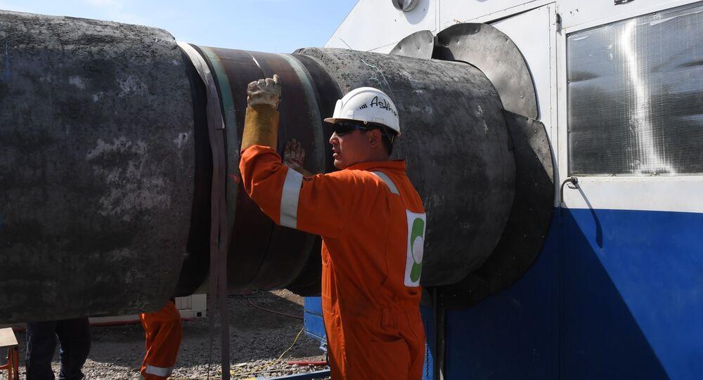 Budowa gazociągu Nord Stream 2.