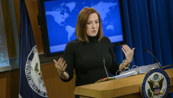 Była rzeczniczka Departamentu Stanu USA Jen Psaki - Sputnik Polska
