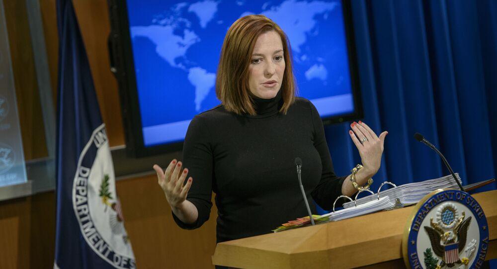 Była rzeczniczka Departamentu Stanu USA Jen Psaki