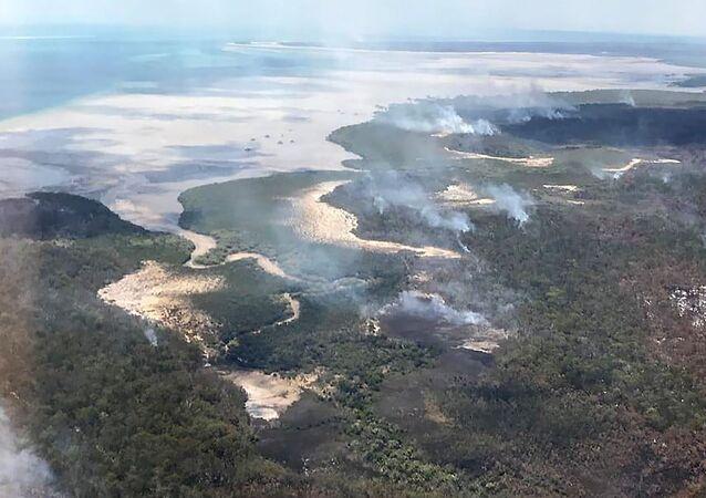 Pożary na wyspie Fraser w Australii