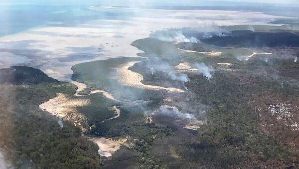 Pożary na wyspie Fraser w Australii - Sputnik Polska