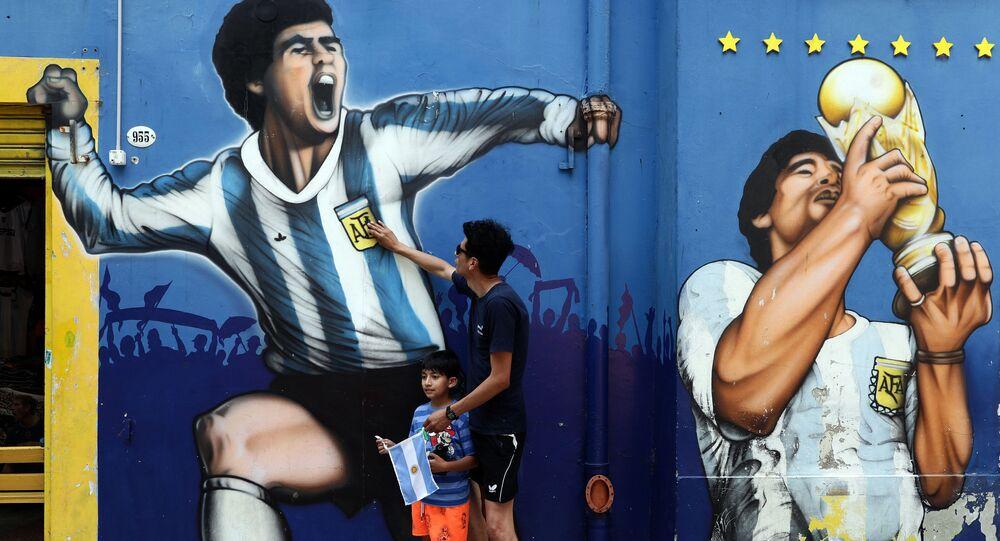 Graffiti z Diego Maradoną