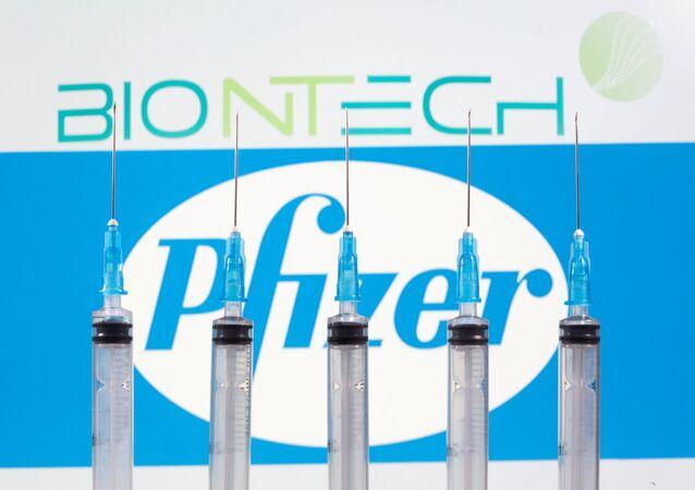 Logo Biontech i Pfizer