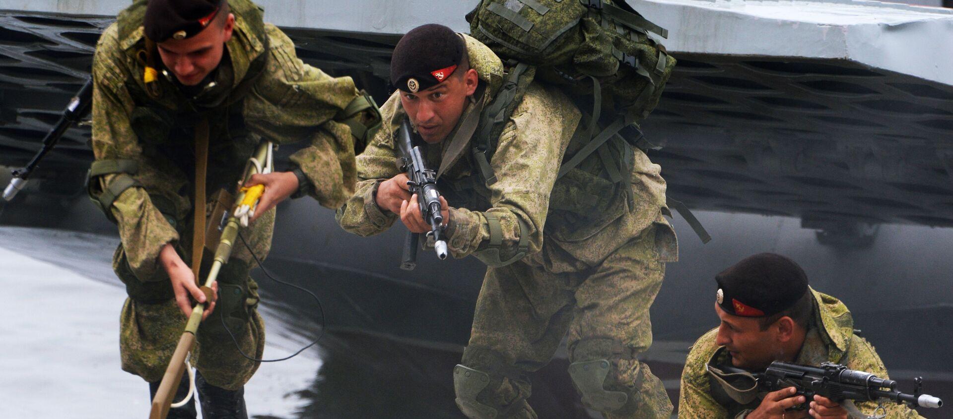 Czarne berety to szczególny rodzaj wojsk brzegowych Marynarki Wojennej Rosji - Sputnik Polska, 1920, 03.12.2020