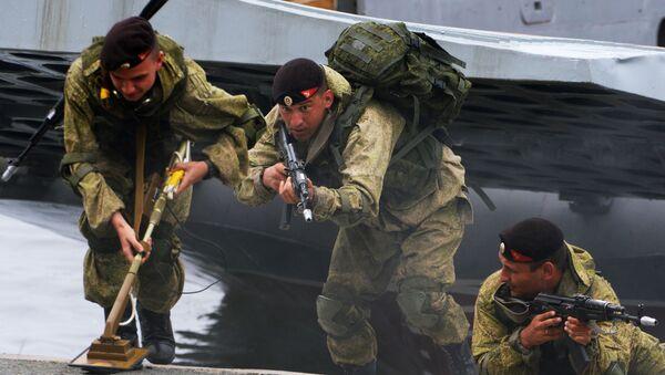 Czarne berety to szczególny rodzaj wojsk brzegowych Marynarki Wojennej Rosji - Sputnik Polska