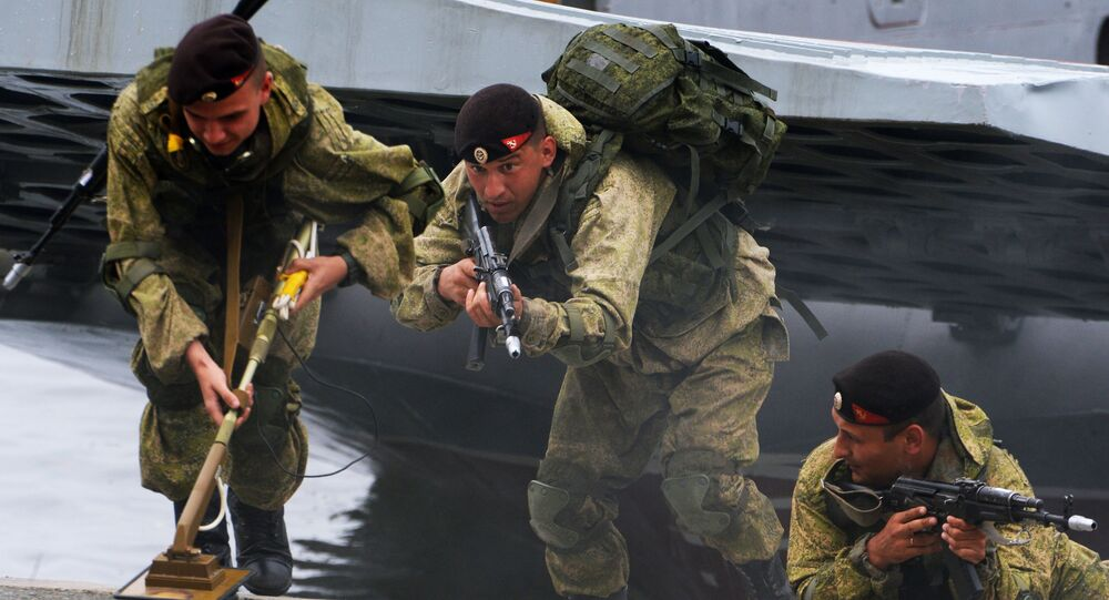 Czarne berety to szczególny rodzaj wojsk brzegowych Marynarki Wojennej Rosji
