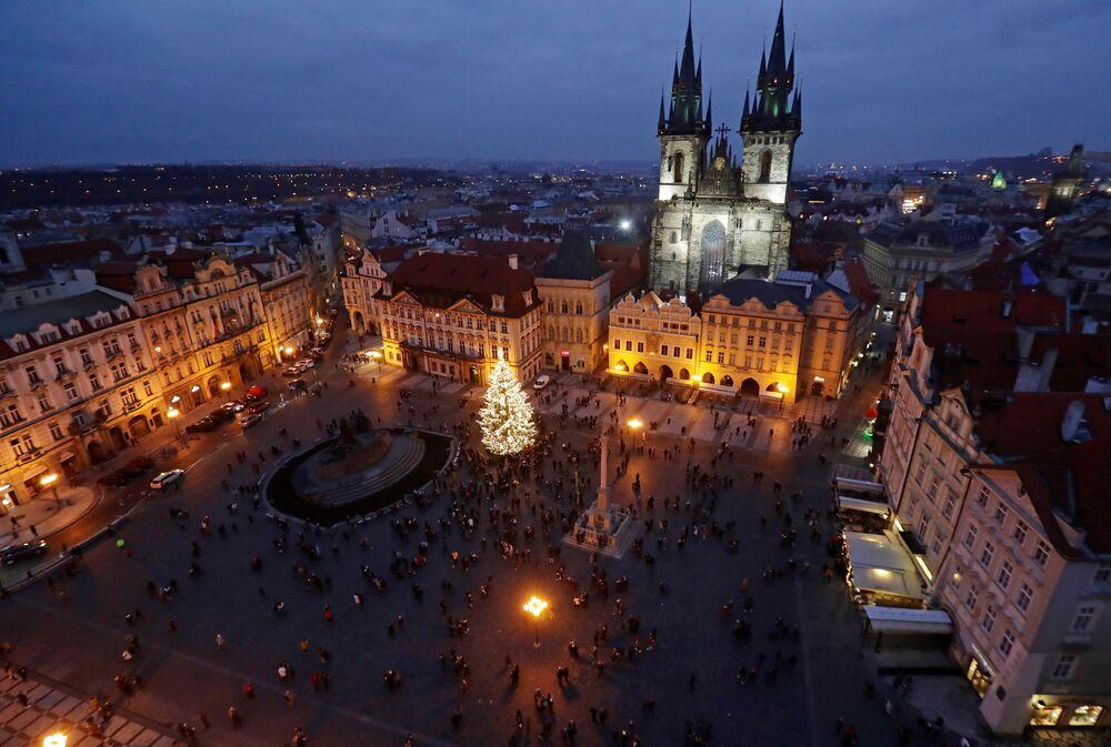 Świąteczna atmosfera w Pradze