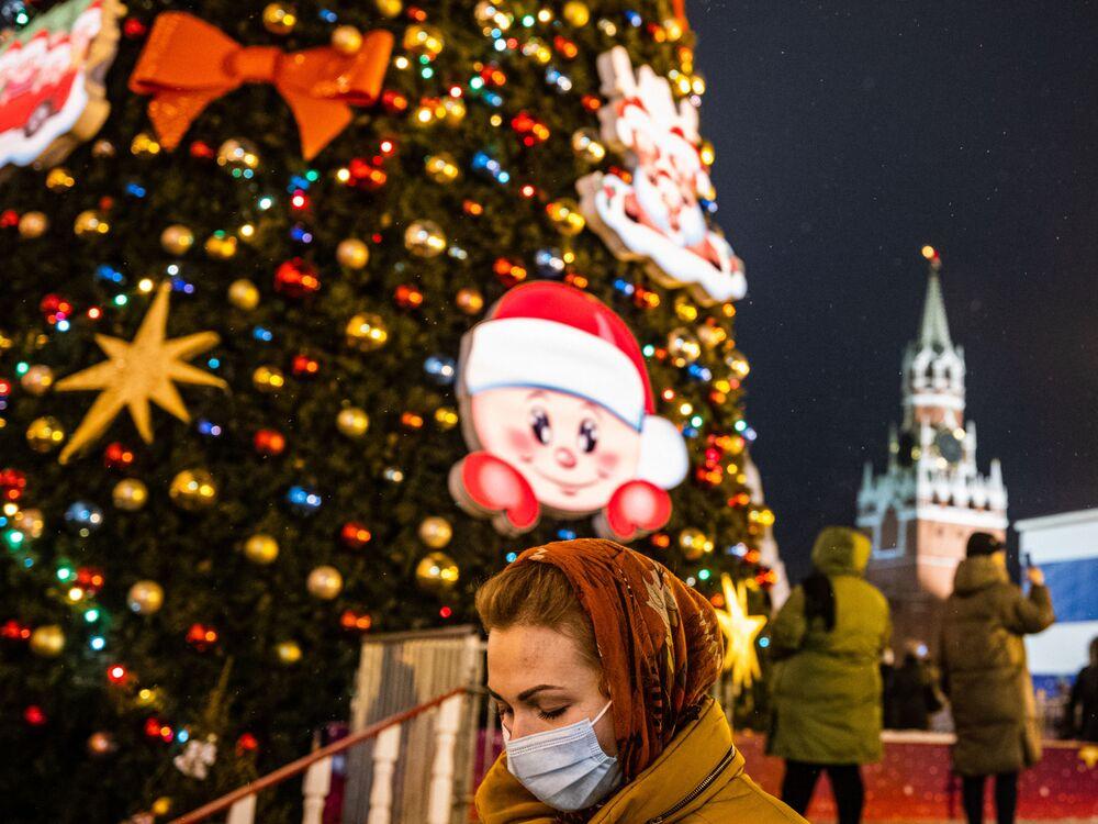 Choinka na Placu Czerwonym w Moskwie