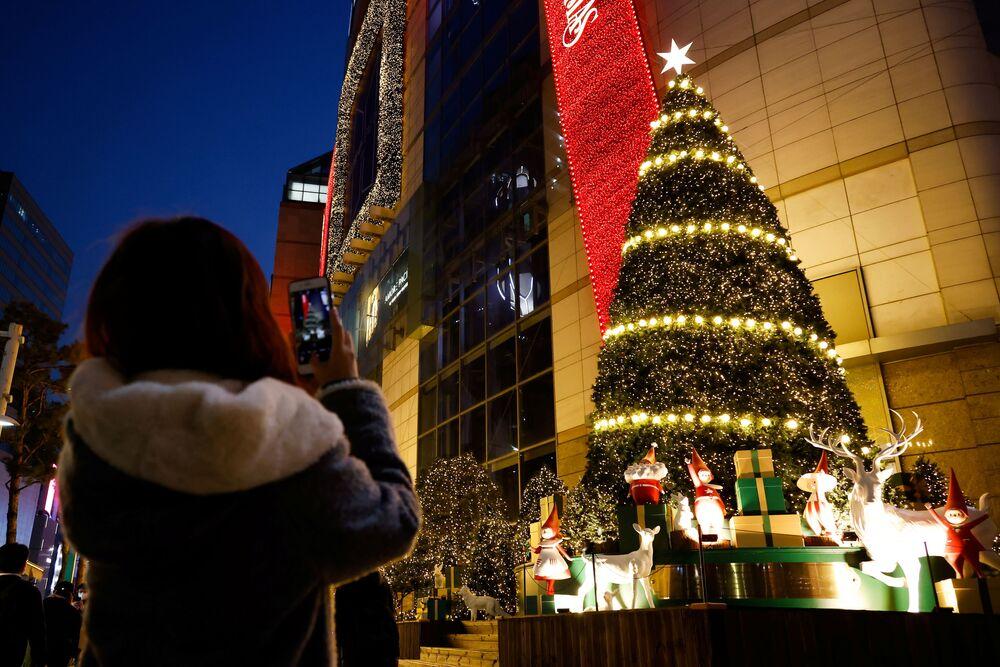 Świąteczna atmosfera w Seulu