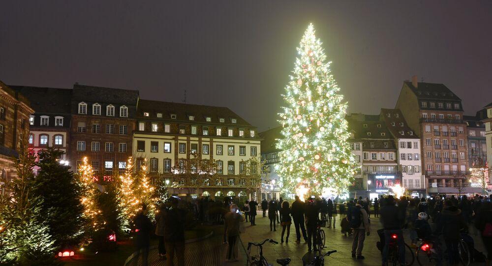 Plac centralny w Strasburgu, Francja