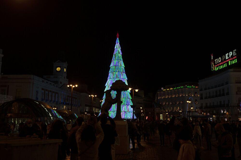 Drzewko bożonarodzeniowe w Madrycie