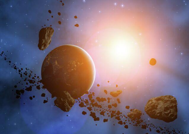 Planeta i asteriody.