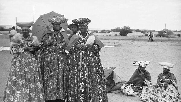 Kobiety z grupy etnicznej Herero w Namibii - Sputnik Polska