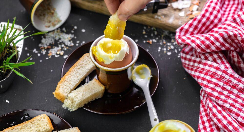 Jajko na śniadanie.