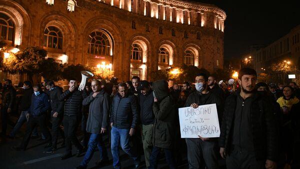 Protest opozycji w Erywaniu. - Sputnik Polska