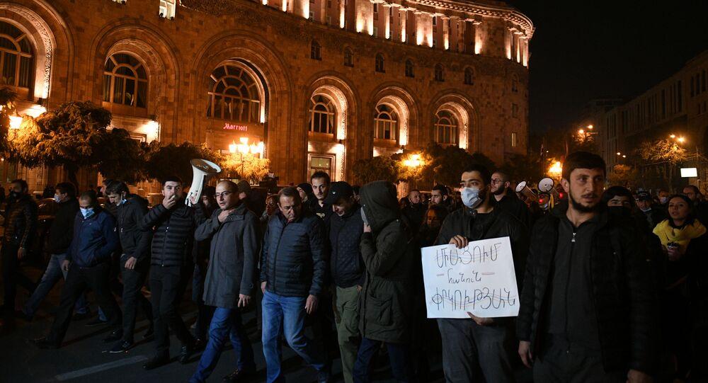Protest opozycji w Erywaniu.