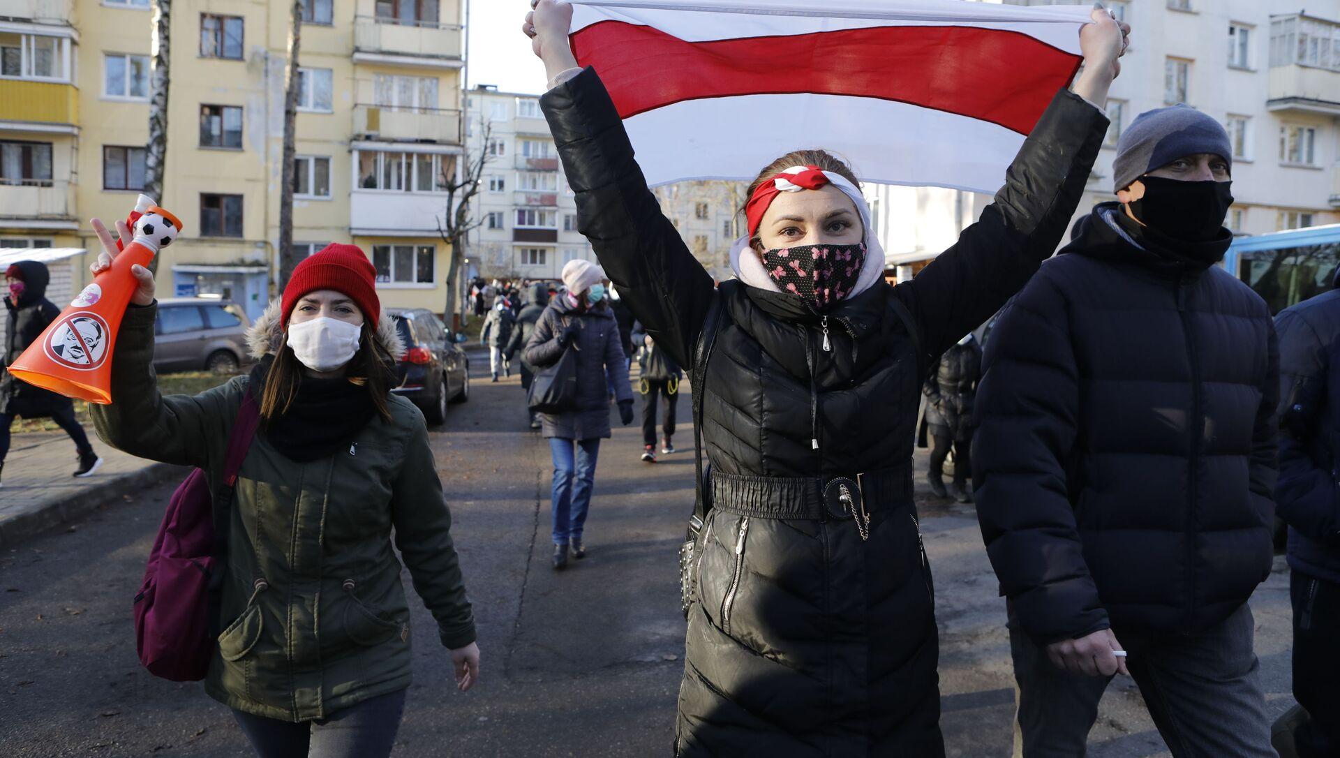 Protesty w Mińsku - Sputnik Polska, 1920, 18.02.2021
