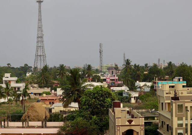 Widok na indyjskie miasto Eluru.