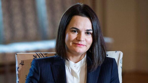 Była kandydatka na prezydenta Białorusi Swiatłana Cichanouska w Sztokholmie, Szwecja - Sputnik Polska