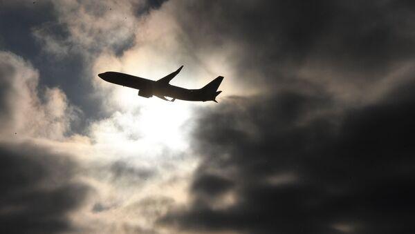 Samolot nad międzynarodowym lotniskiem Wnukowo im. A. N. Tupolewa - Sputnik Polska