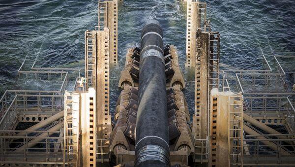 Odcinek gazociągu Nord Stream 2 w szwedzkich wodach. - Sputnik Polska