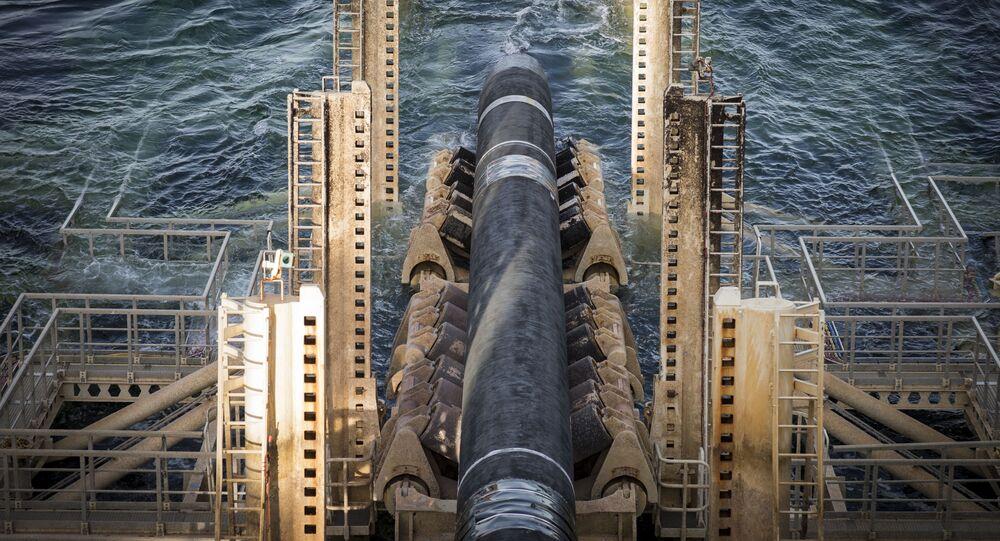Odcinek gazociągu Nord Stream 2 w szwedzkich wodach.