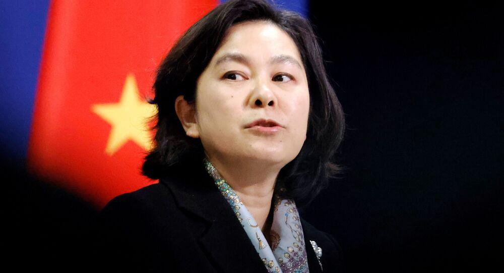 Rzeczniczka chińskiego MSZ Hua Chunying.