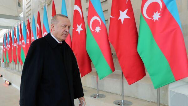 Wizyta prezydenta Turcji Erdogana w Baku - Sputnik Polska
