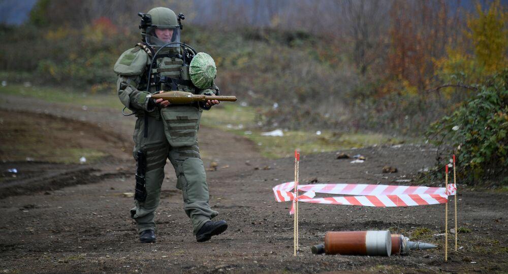 Specjaliści centrum przeciwminowego Ministerstwa Obrony Federacji Rosyjskiej rozpoczęli pracę w Karabachu