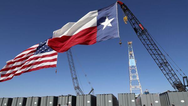 Flagi USA i Teksasu - Sputnik Polska