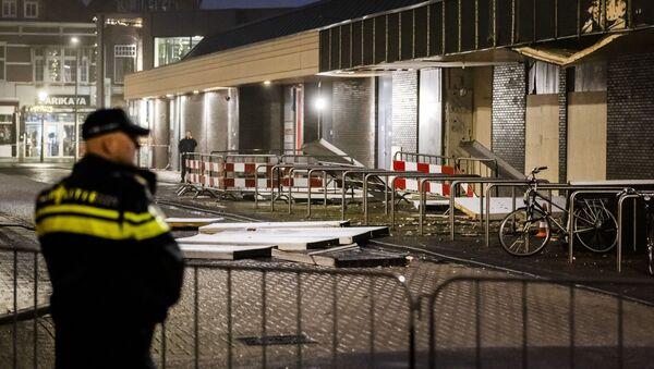 Eksplozja w polskim supermarkecie w centrum Beverhof w Holandii - Sputnik Polska