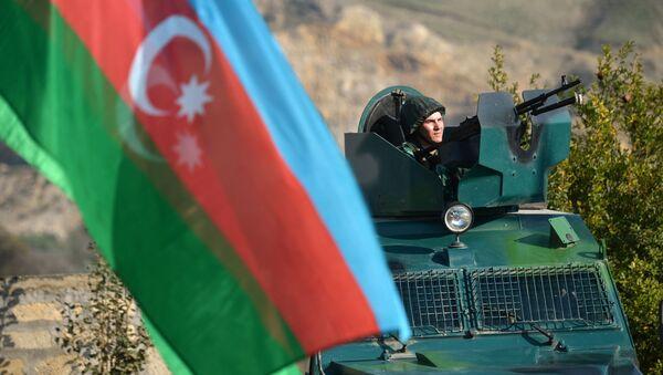Azerbejdżańskie służby graniczne - Sputnik Polska