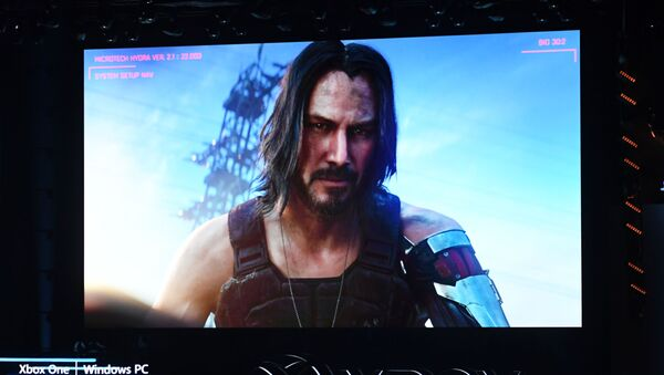 """Anons gry """"Cyberpunk 2077"""" na konferencji prasowej w Los Angeles, 09.06.2019 r. - Sputnik Polska"""