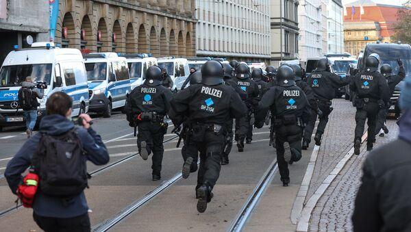 Protesty w Lipsku. - Sputnik Polska