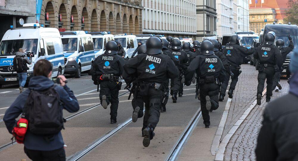 Protesty w Lipsku.