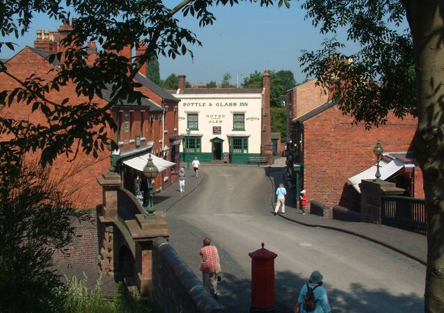 Widok na Black Country Living Museum w Dudley w Anglii