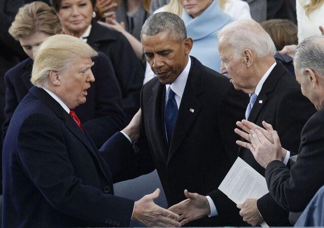 Donald Trump, Barack Obama i Joe Biden w Waszyngtonie