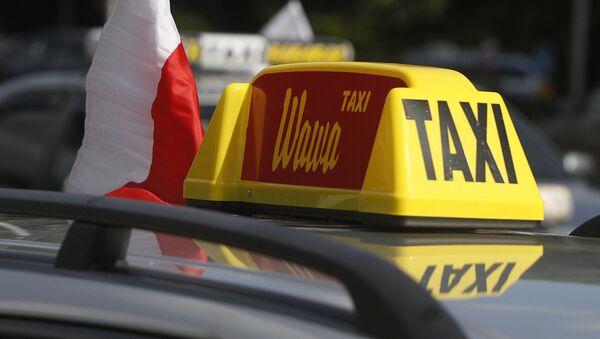 Protesty taksówkarzy w Warszawie - Sputnik Polska