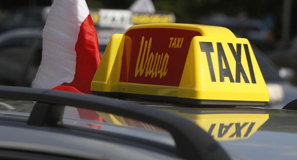Protesty taksówkarzy w Warszawie