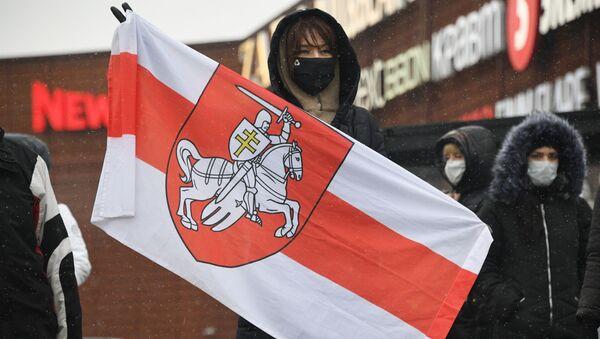 Akcja protestacyjna w Mińsku - Sputnik Polska