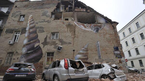 Następstwa trzęsienia ziemi w Zagrzebiu w Chorwacji - Sputnik Polska